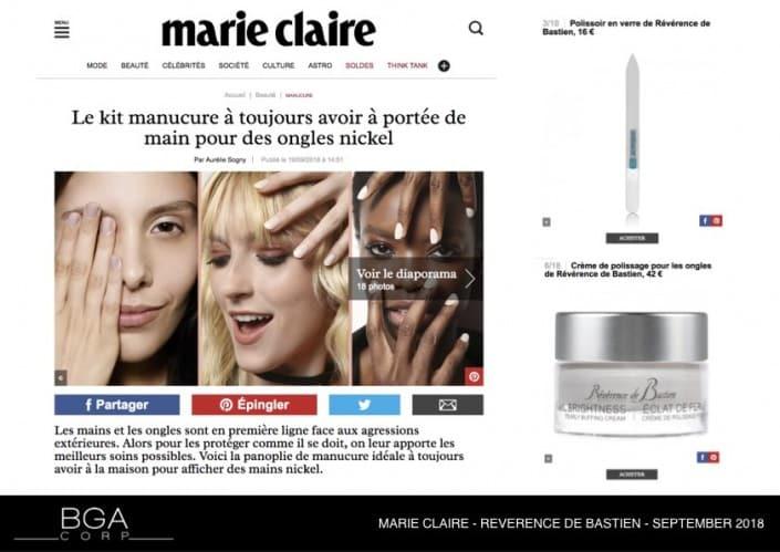MARIE CLAIRE - REVERENCE DE BASTIEN